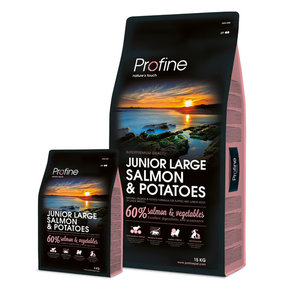 PROFINE JUNIOR LARGE SALMON & POTATOES 15 kg